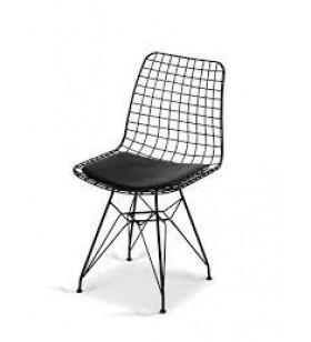 TANITEK Tel Sandalye Siyah Cafe/restaruant/mutfak